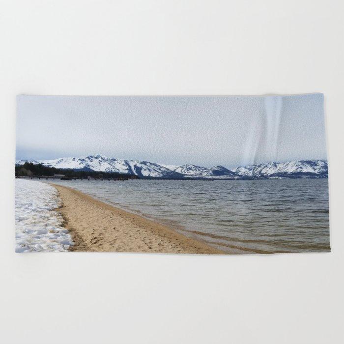 Snow and Sand Beach Towel