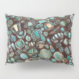 Vintage Navajo Turquoise stones Pillow Sham