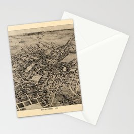 Map Of San Antonio 1873 Stationery Cards