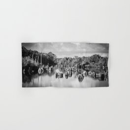 Dead Lakes Florida Black and White Hand & Bath Towel