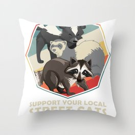Funny Skunk Throw Pillow