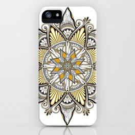 Mustard Mandala iPhone Case