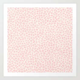 Modern ivory blush pink girly cheetah animal print pattern Art Print