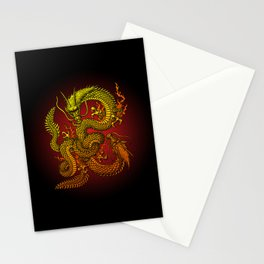 Twin dragons Stationery Cards