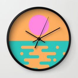 Paradise Sunrise Wall Clock