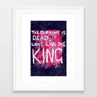 "coldplay Framed Art Prints featuring ""Long Live The King""-Coldplay by Fabfari"