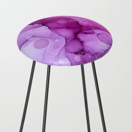 Abstract alcohol ink art painting Counter Stool