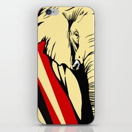 Art print: Elephant pop art iPhone Skin