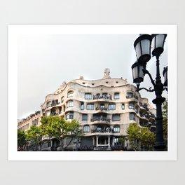 Gaudi Series - Casa Milà No. 1 Art Print