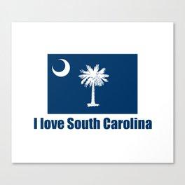 flag of south carolina – I love south Carolina Canvas Print