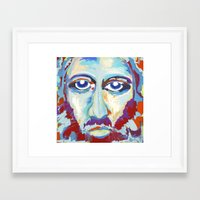 jesus Framed Art Prints featuring Jesus  by melissa lyons