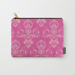 Pink Vintage Damask Carry-All Pouch