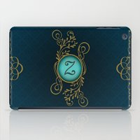 monogram iPad Cases featuring Monogram Z by Britta Glodde