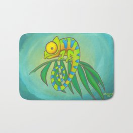 Colorful Chameleon! Bath Mat