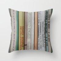 marx Throw Pillows featuring Marx Lenin Engels Revolucion Socialismo by Sanchez Grande