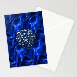Lion Plasma Blue Stationery Cards