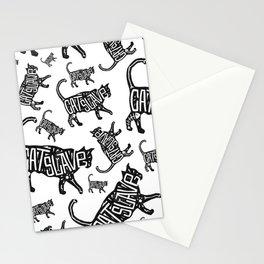 Cat Slave Stationery Cards