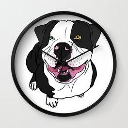 Bubba, the American Bulldog Wall Clock