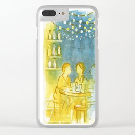 Barcelona Nights Clear iPhone Case