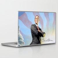obama Laptop & iPad Skins featuring Barack Obama by Storm Media
