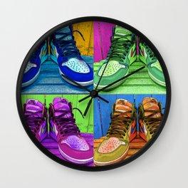 Sneaker Popart Wall Clock