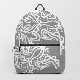 Gray Mandala Backpack