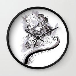 Poor Unfortunate Soul Inktober Drawing Wall Clock