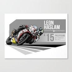 Leon Haslam - 2015 Phillip Island Canvas Print