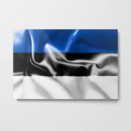 Estonia Flag Metal Print