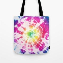 Tie-Dye Sunburst Rainbow Tote Bag