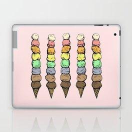 Giant Rainbow Ice Cream Cones Laptop & iPad Skin