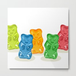 Gummy Bears Gang Metal Print