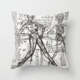 Clone Death - Intaglio / Printmaking Throw Pillow