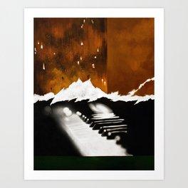 Music Triptych: Piano Art Print