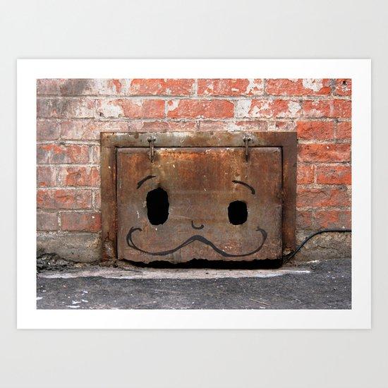 Graffiti Mustache Art Print