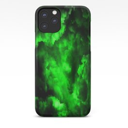 Envy - Abstract In Black And Neon Green iPhone Case