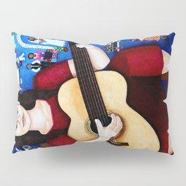 Violeta Parra playing guitar Pillow Sham
