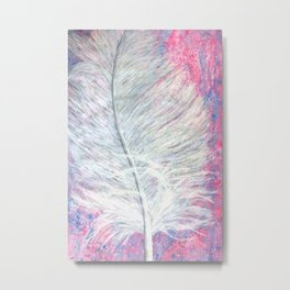 Angel Feather Painting Metal Print