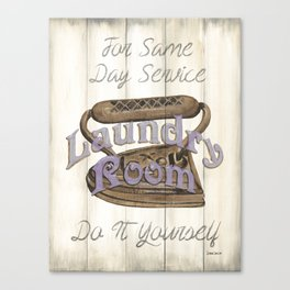 Vintage Laundry Room 1 Canvas Print
