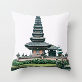 Bali Ulun Danu Temple Throw Pillow