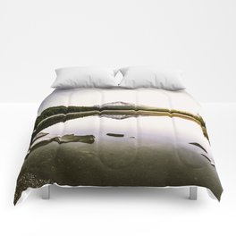 Fantastic Morning - Mount Hood Reflection Comforters