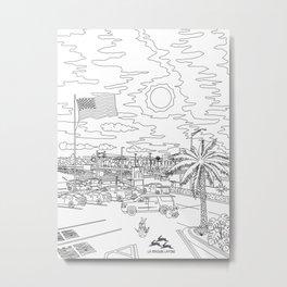 Orlando Sunrise - Line Art Metal Print
