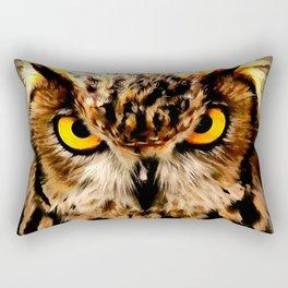 owl look digital painting reacstd Rectangular Pillow
