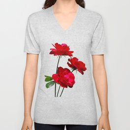 Roses are red, really red! Unisex V-Neck
