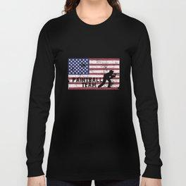 Paintball Team US Flag Long Sleeve T-shirt