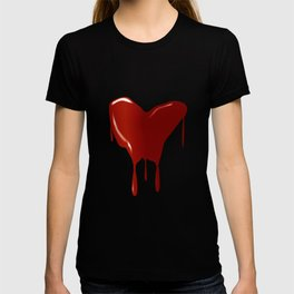 Melting Red Heart T-shirt