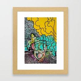 the music in my head Framed Art Print