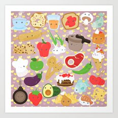 Cute food Art Print