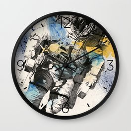 Clavius | astronaut floating in the space Wall Clock