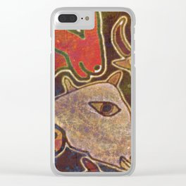 Dear Beasts on the Wall Clear iPhone Case